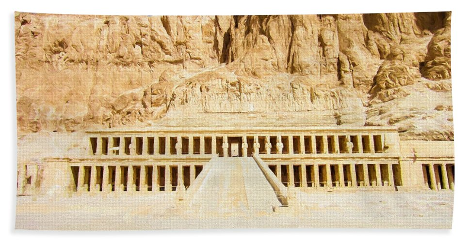 Egypt Hand Towel featuring the digital art Valley Of The Queens 2 by Roy Pedersen