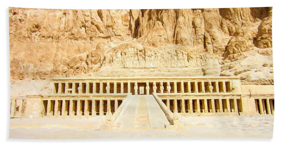 Egypt Hand Towel featuring the digital art Valley Of The Queens by Roy Pedersen