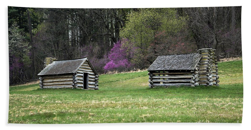 American Revolution Hand Towel featuring the photograph Vally Forge Park by John Greim