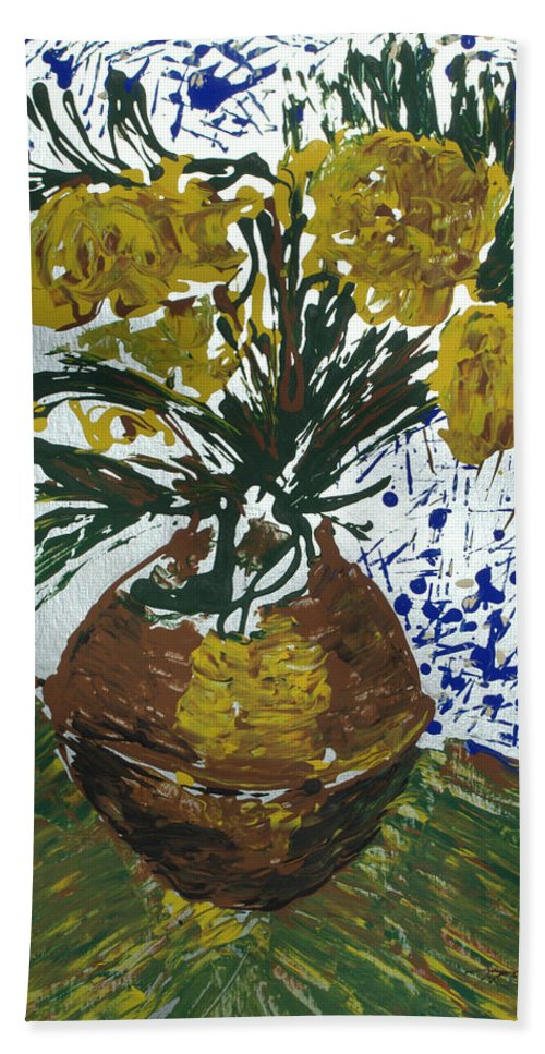 Flowers Bath Towel featuring the painting Van Gogh by J R Seymour