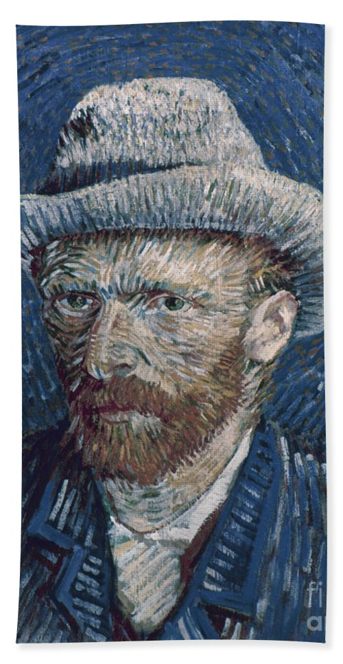 1887 Hand Towel featuring the photograph Van Gogh: Self-portrait by Granger