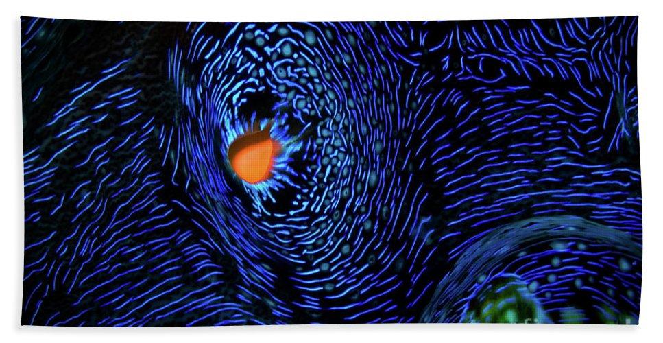 Van Gogh's Clam Bath Sheet featuring the photograph Van Gogh's Clam by Doug Sturgess