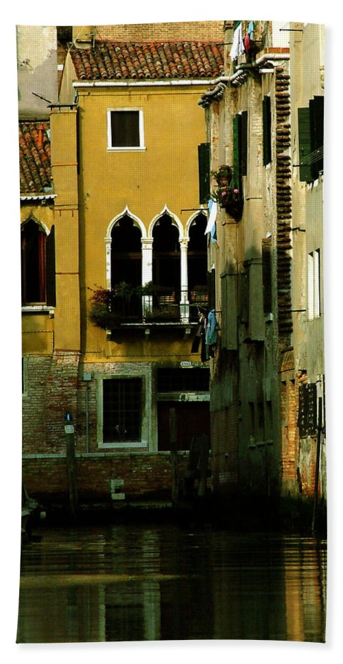 Venice Bath Towel featuring the photograph Venetian Gold by Donna Corless