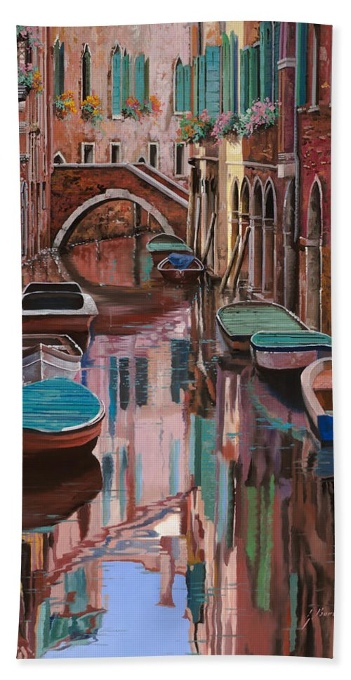 Venice Bath Towel featuring the painting Venezia A Colori by Guido Borelli