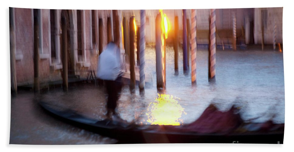 Venice Bath Sheet featuring the photograph Venice Blue Hour 1 by Heiko Koehrer-Wagner