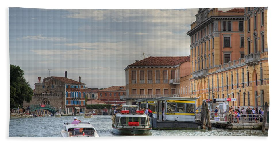 Venice Bath Sheet featuring the photograph Venice Italy by Ian Middleton