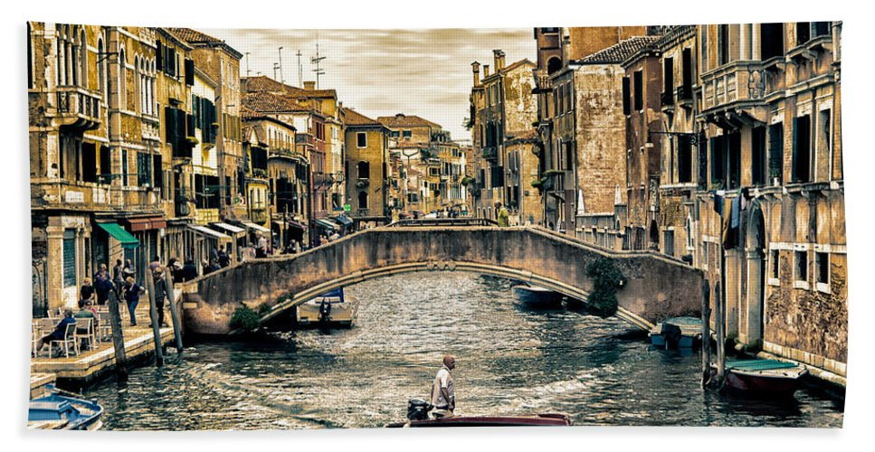 Venice Hand Towel featuring the photograph venice, Italy by Nir Roitman