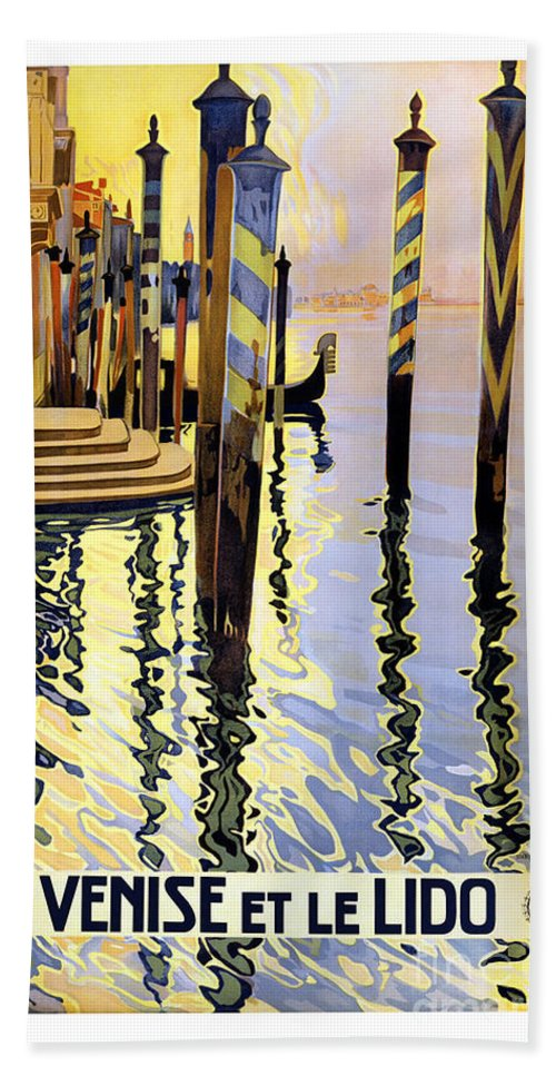 Venice Italy Hand Towel featuring the painting Venice Italy by Pd