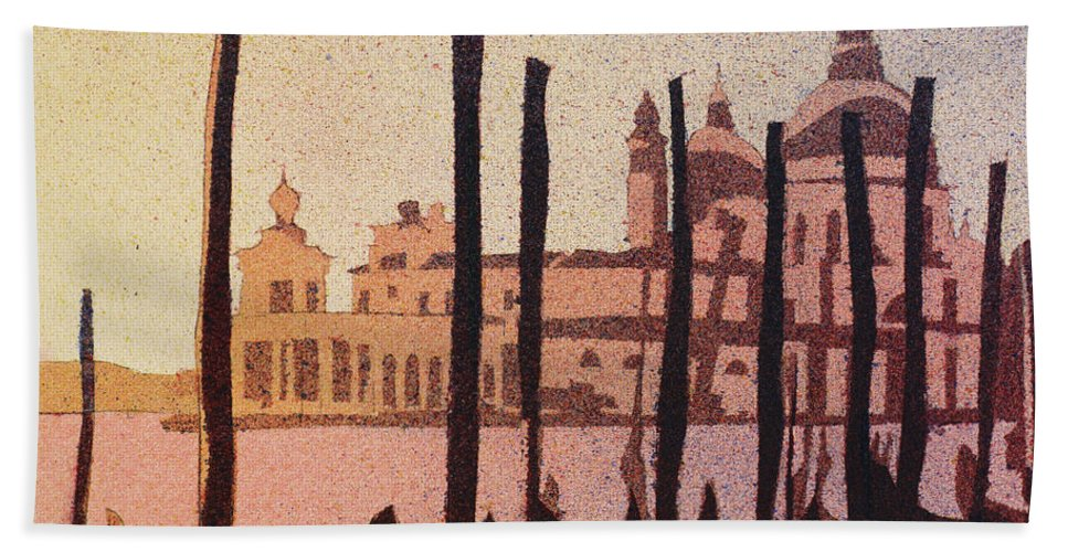 Art Venice Hand Towel featuring the painting Venice Morning by Ryan Fox