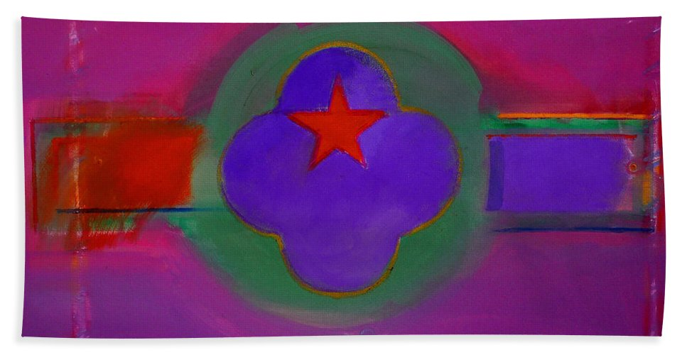 Star Bath Towel featuring the painting Venice Spiritual by Charles Stuart