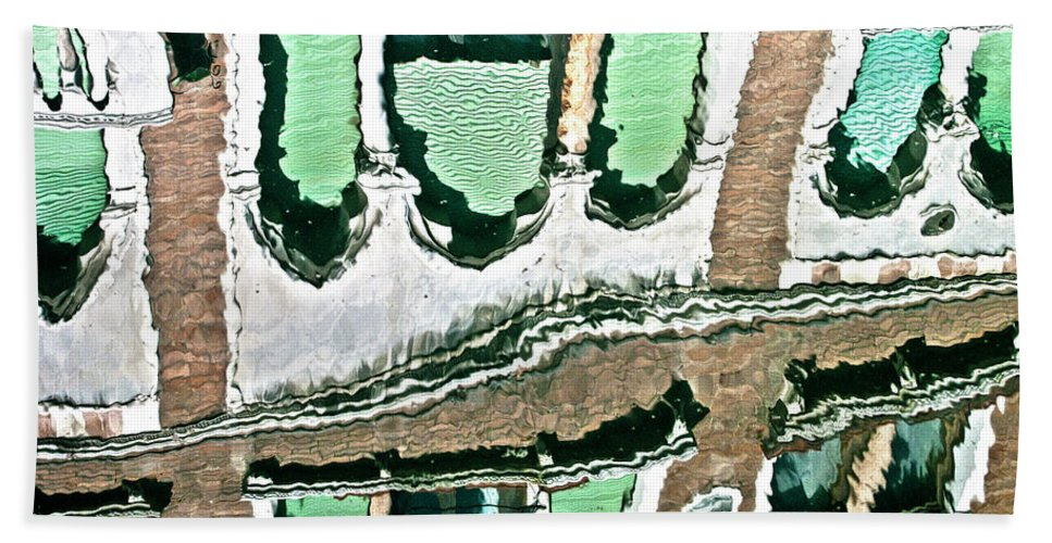 Water Bath Sheet featuring the photograph Venice Upside Down 2 by Heiko Koehrer-Wagner