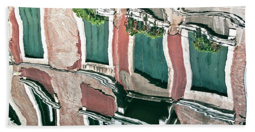 Water Bath Sheet featuring the photograph Venice Upside Down 3 by Heiko Koehrer-Wagner
