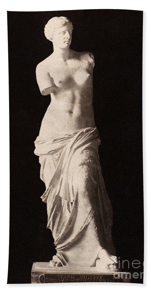 2nd Century B.c. Hand Towel featuring the painting Venus De Milo by Granger