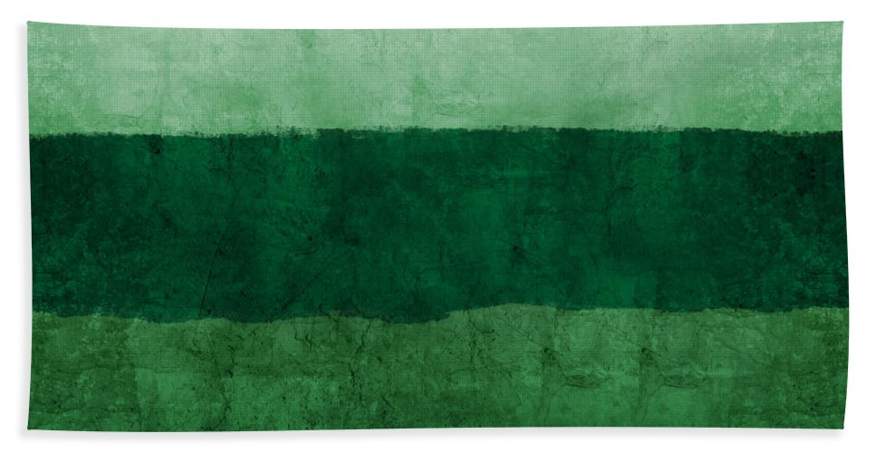 Green Bath Towel featuring the painting Verde Landscape 1- Art By Linda Woods by Linda Woods