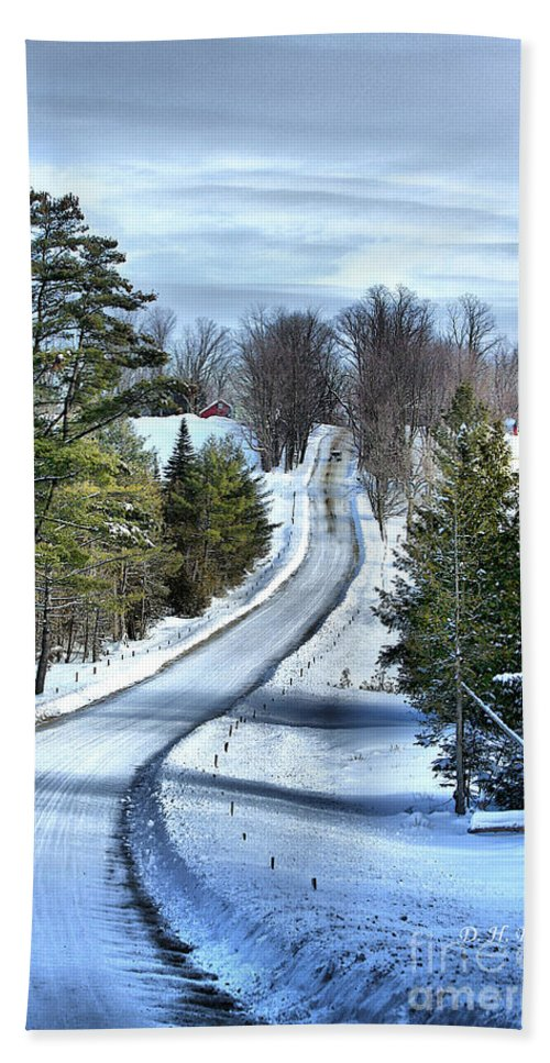 Vermont Hand Towel featuring the photograph Vermont Country Landscape by Deborah Benoit