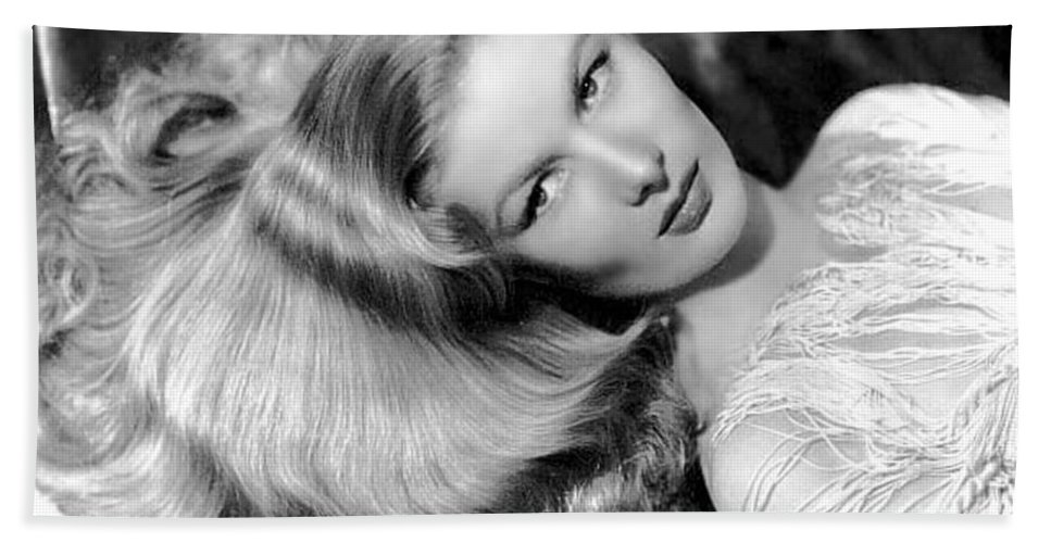 Veronica Lake Bath Sheet featuring the photograph Veronica Lake by American School