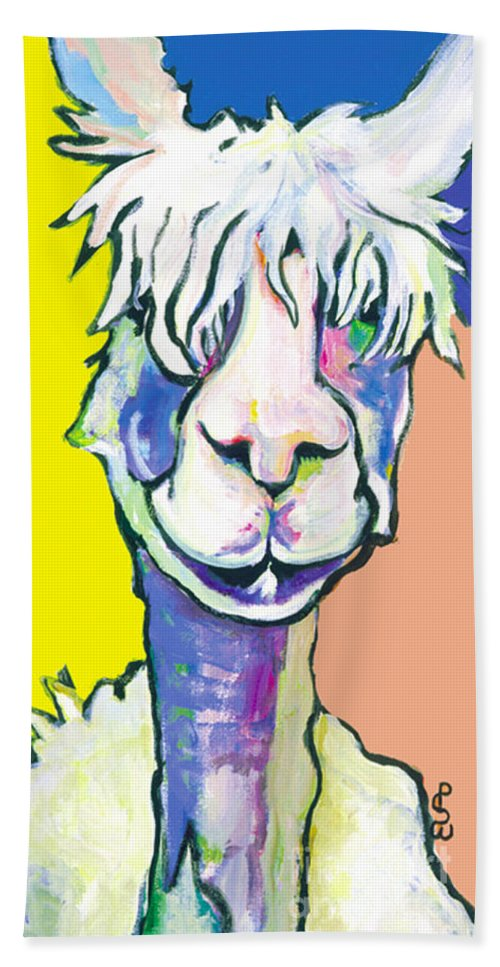 Mountain Animal Hand Towel featuring the painting Veronica by Pat Saunders-White