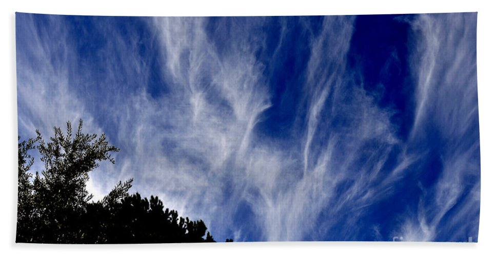 Clay Bath Towel featuring the photograph Vertical Clouds by Clayton Bruster