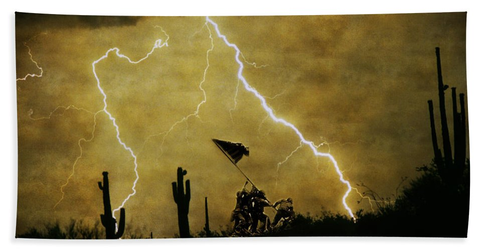 Veterans Hand Towel featuring the photograph Desert Storm by James BO Insogna