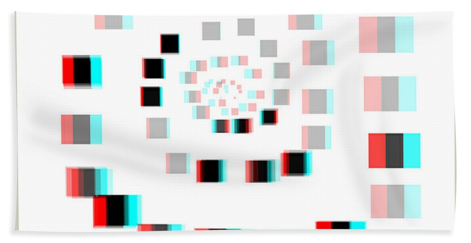 3d Hand Towel featuring the photograph Vexer 2 - Use Red-cyan 3d Glasses by Brian Wallace