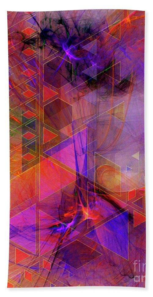 Vibrant Echoes Bath Towel featuring the digital art Vibrant Echoes by John Beck