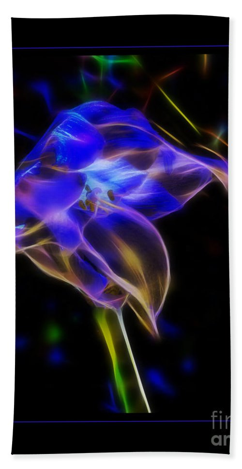 Orchid Hand Towel featuring the photograph Vibrant Orchid by Darleen Stry