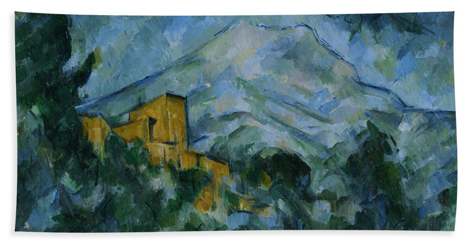 Paul Cezanne Bath Sheet featuring the painting Victoire And Chateau Noir by Paul Cezanne