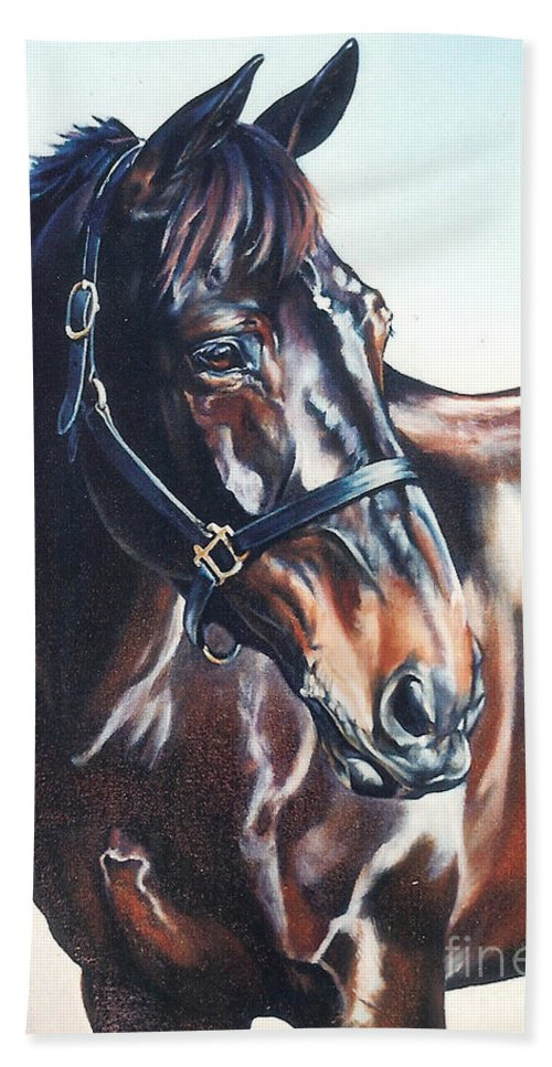 Horse Bath Sheet featuring the painting Victor by Suzanne Leonard