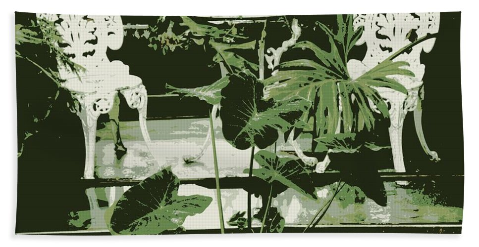 Victorian Bath Towel featuring the photograph Victorian Garden Poster by Carol Groenen
