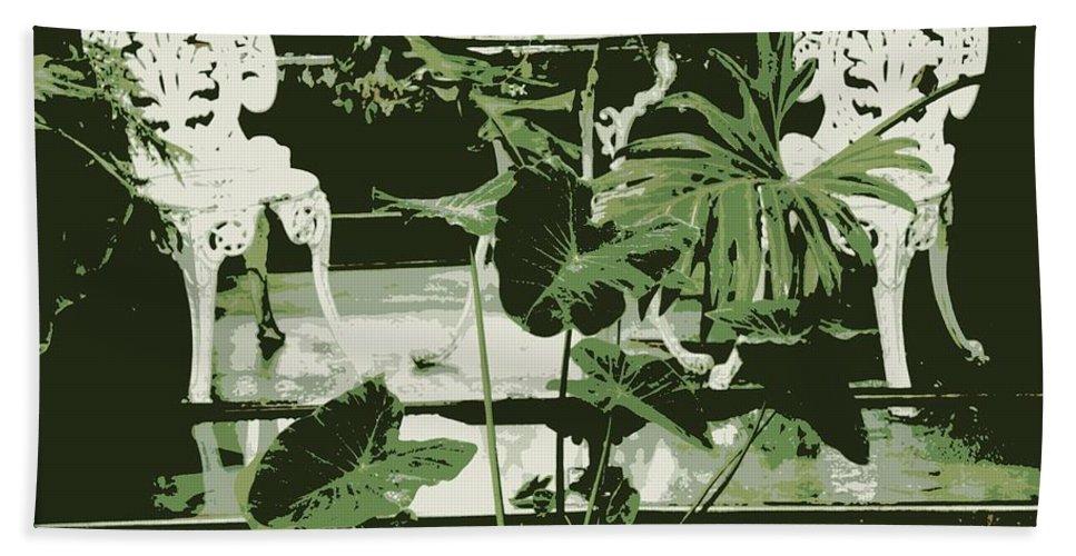 Victorian Bath Sheet featuring the photograph Victorian Garden Poster by Carol Groenen