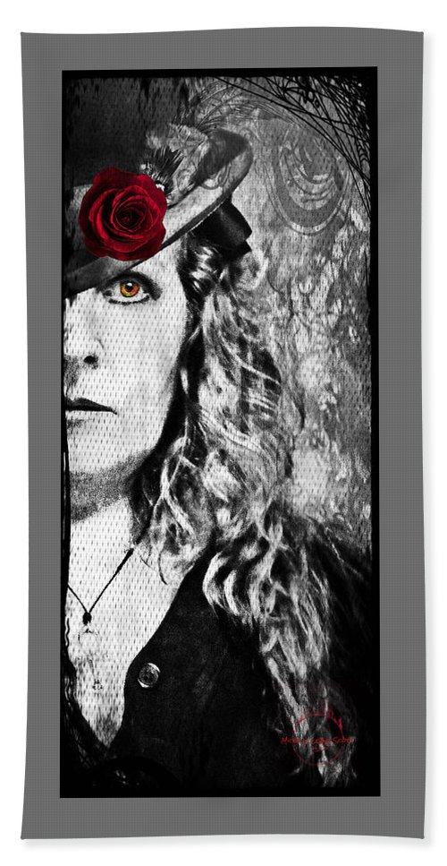 Vampire Hand Towel featuring the photograph Victorian Lady Vampire by Absinthe Art By Michelle LeAnn Scott