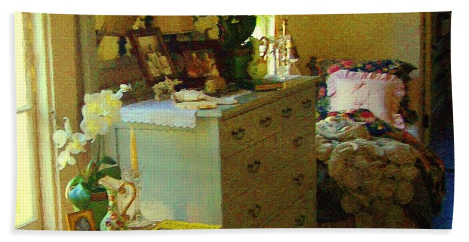 Bedroom Bath Sheet featuring the painting Victorian Sunshine by RC DeWinter