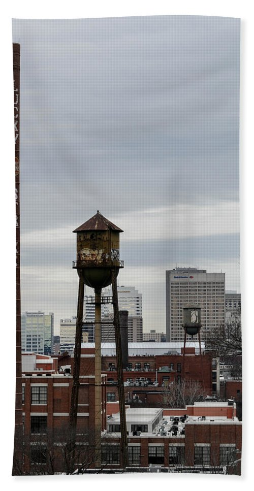 Richmond Hand Towel featuring the photograph View From Libby Hill by Aaron Dishner