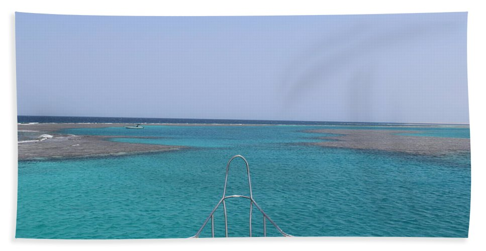Boat Hand Towel featuring the photograph View Of Coral by Dave Lees