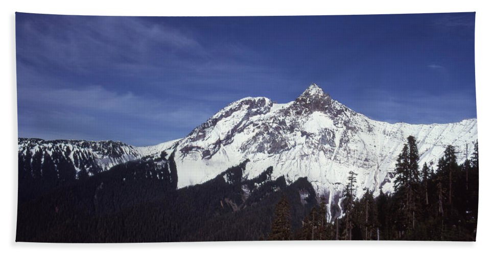 Nature Bath Sheet featuring the photograph View Of Garibaldi Mountain by Lyle Crump