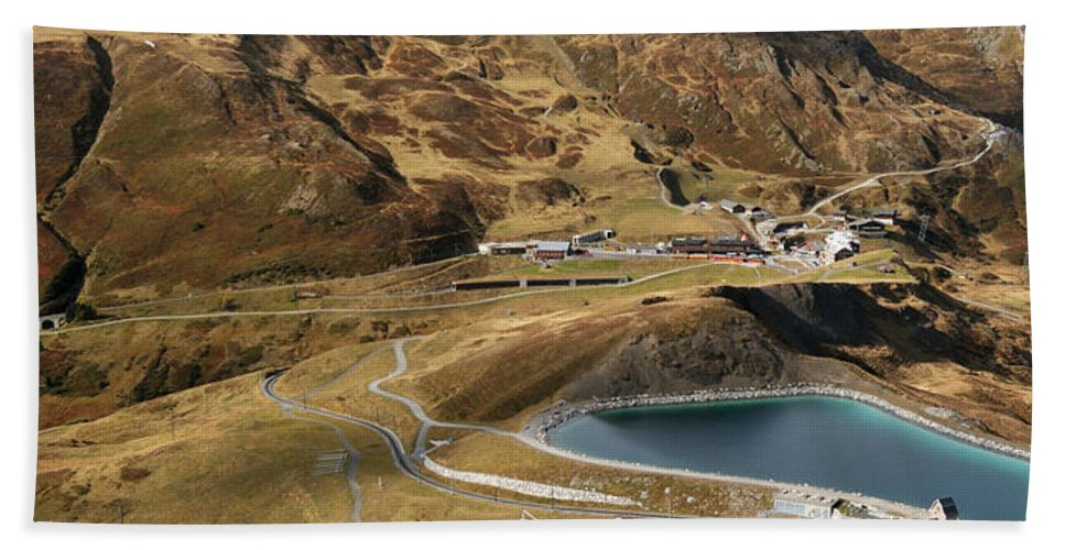 Photography Bath Sheet featuring the photograph View Of Kleine Scheidegg by Panoramic Images