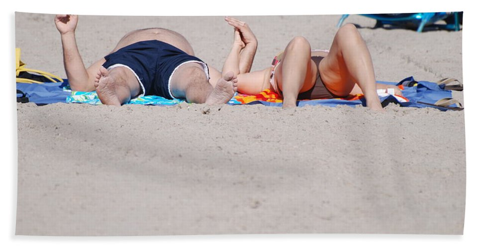 People Bath Sheet featuring the photograph Views At The Beach by Rob Hans