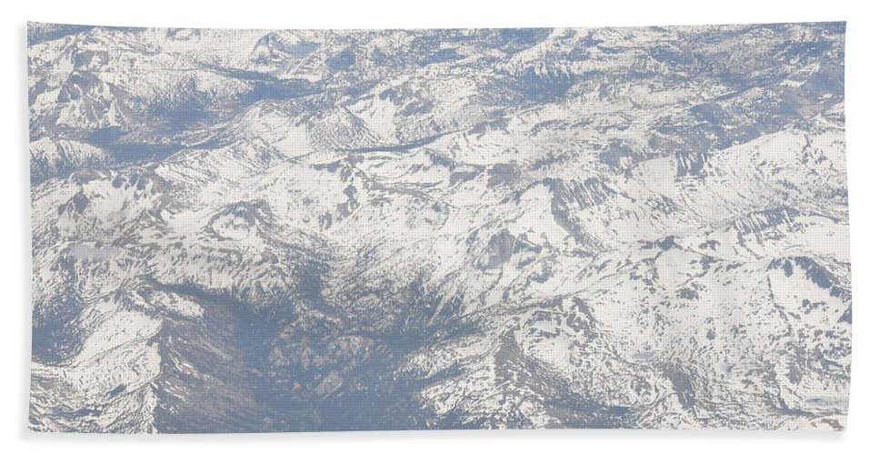 View Bath Sheet featuring the photograph Views From The Sky by Terry Anderson