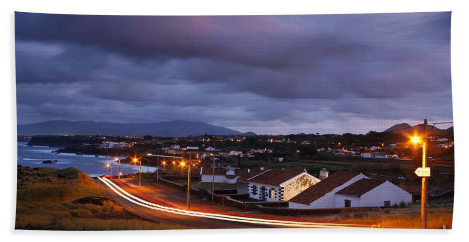Capelas Bath Sheet featuring the photograph Village At Twilight by Gaspar Avila