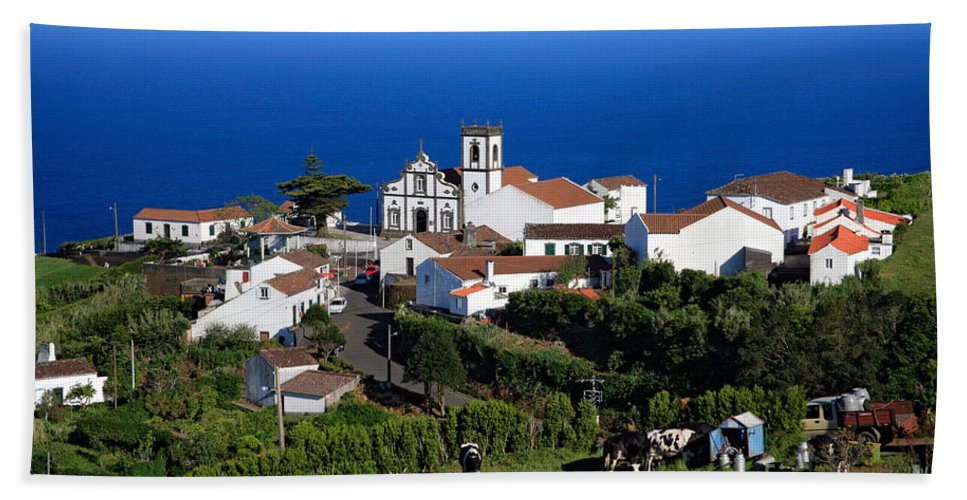 Azores Bath Sheet featuring the photograph Village In The Azores by Gaspar Avila