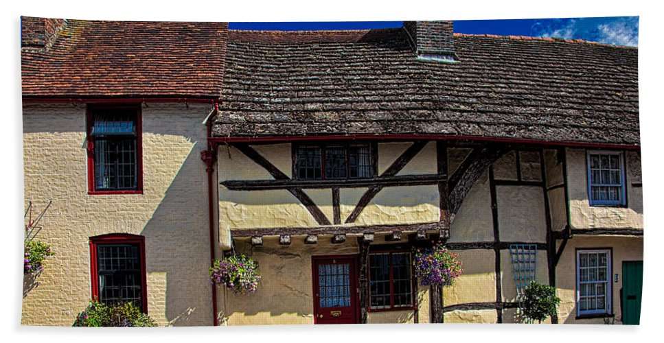Cottage Hand Towel featuring the photograph Village Tudors by Chris Lord