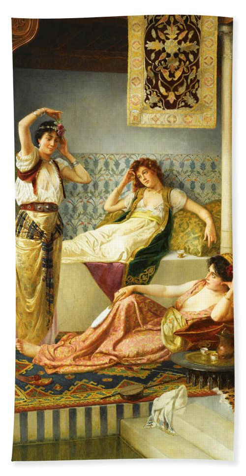 Vincent Stiepevich Bath Sheet featuring the photograph Vincent Stiepevich In The Harem by Munir Alawi