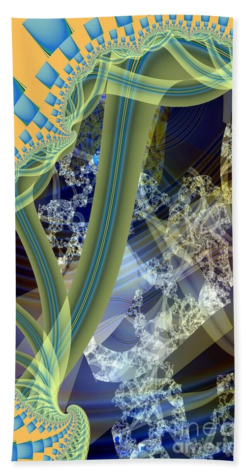 Vine Bath Sheet featuring the digital art Vine Inner Structure by Ron Bissett