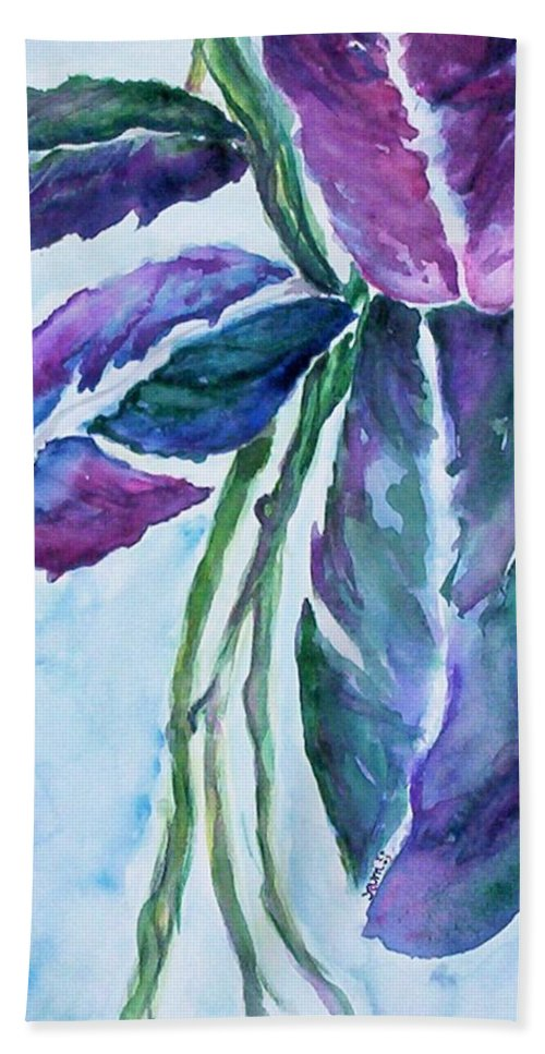 Landscape Bath Towel featuring the painting Vine by Suzanne Udell Levinger