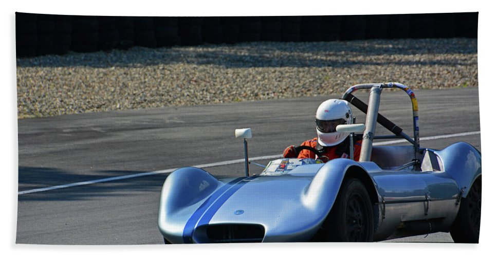 Vintage Bath Sheet featuring the photograph Vintage 1958 Elva Mk5 by Mike Martin