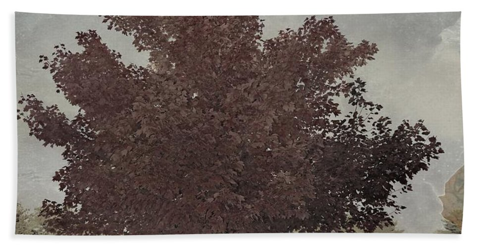 Illinois Foliage Hand Towel featuring the photograph Vintage Autumn Moment by Luther Fine Art