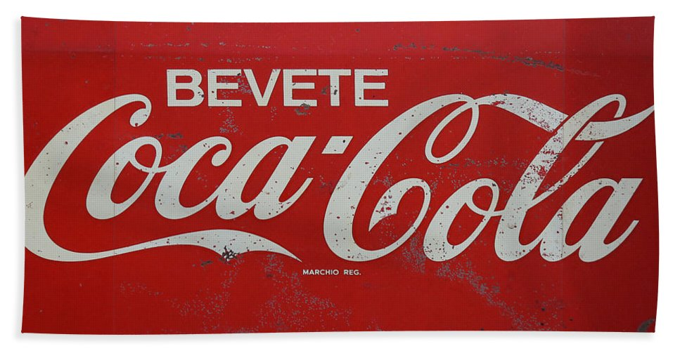Coke Bath Sheet featuring the photograph Vintage Coca Cola Sign by Andrew Fare