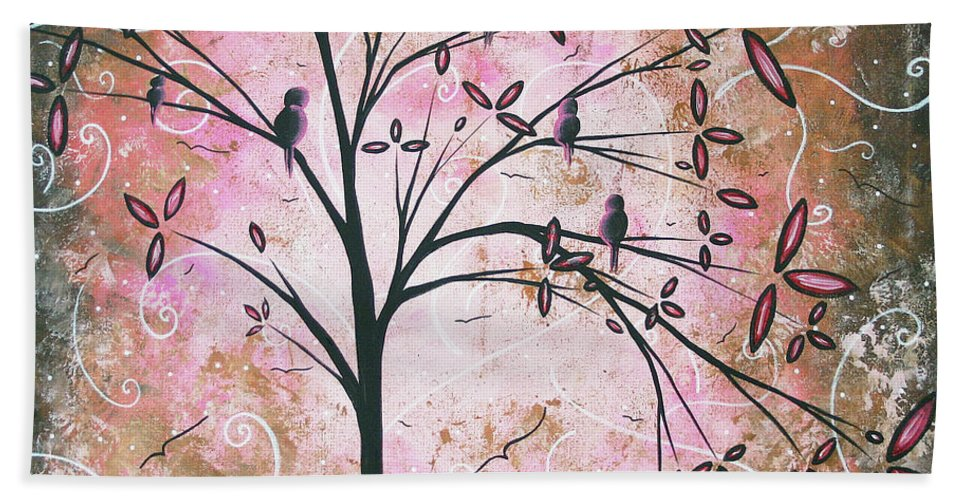 Art Hand Towel featuring the painting Vintage Couture By Madart by Megan Duncanson