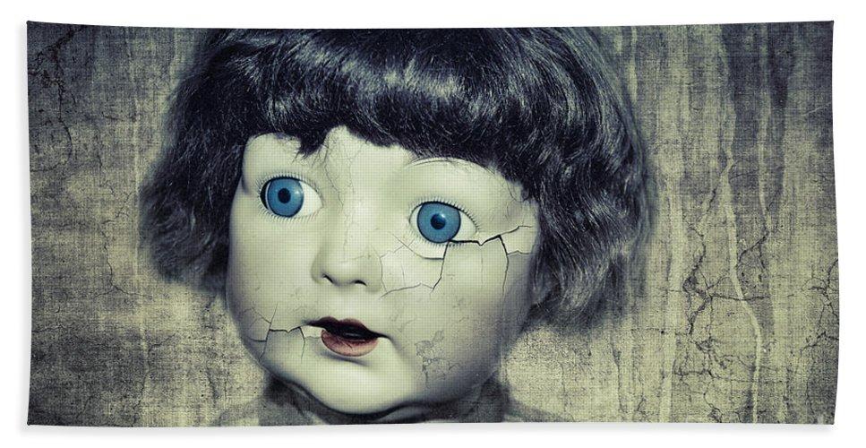 Photo Bath Sheet featuring the photograph Vintage Doll by Jutta Maria Pusl