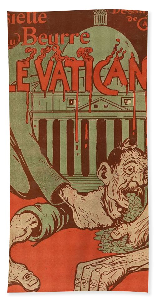Vintage Poster Bath Sheet featuring the painting Vintage Poster - Vatican Galantara by Vintage Images